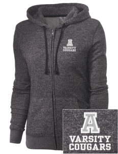 Ackley-Geneva Elementary School Cougars Embroidered Women's Marled Full-Zip Hooded Sweatshirt