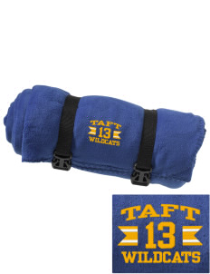 Taft Elementary School Wildcats Embroidered Fleece Blanket with Strap