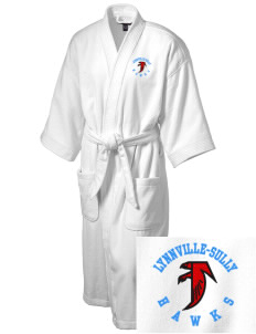 Lynnville-Sully Elementary School Hawks Embroidered Terry Velour Robe
