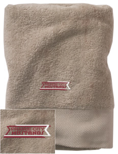 Prairie City Elementary School Mustangs Embroidered Zero Twist Resort Towel