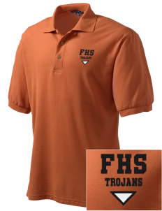 Fairfield Senior High School Trojans Embroidered Men's Silk Touch Polo