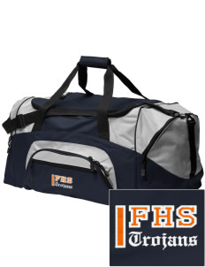 Fairfield Senior High School Trojans Embroidered Colorblock Duffel Bag