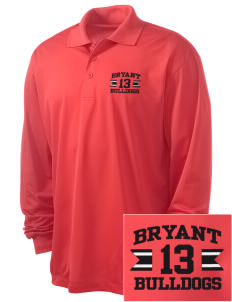 Bryant Elementary School Bulldogs Embroidered Men's Long Sleeve Micropique Sport-Wick Sport Shirt