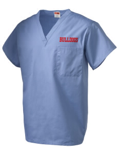 Bryant Elementary School Bulldogs V-Neck Scrub Top