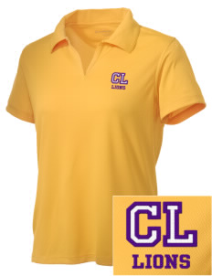 Central Lyon Elementary School Lions Embroidered Women's Double Mesh Polo