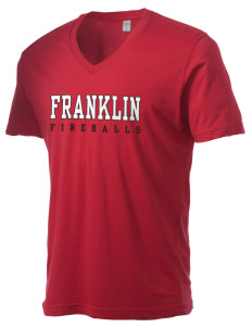 Franklin Elementary School Fireballs Alternative Men's 3.7 oz Basic V-Neck T-Shirt