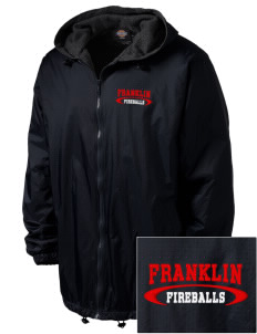 Franklin Elementary School Fireballs Embroidered Dickies Men's Fleece-Lined Hooded Jacket