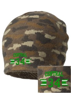 Central Elementary School Spartans Embroidered Camo Beanie