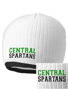 Central Elementary School Spartans Embroidered Champion Striped Knit Beanie