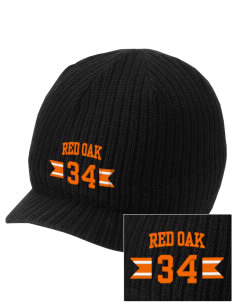 Red Oak Middle School Tigers Embroidered Knit Beanie with Visor