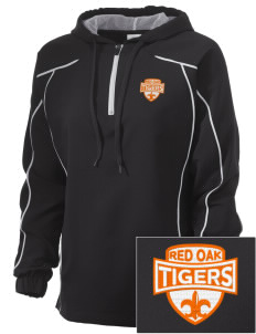 Red Oak Middle School Tigers Embroidered Russell Women's Prestige 1/4 Zip Jacket