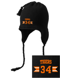 Red Oak Middle School Tigers Embroidered Knit Hat with Earflaps