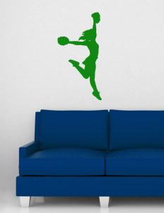 "Central Middle School Chargers Wall Silhouette Decal 20"" x 32"""