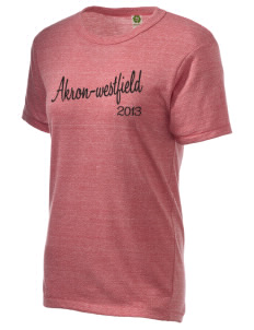 Akron-Westfield Community School Westerners Embroidered Alternative Unisex Eco Heather T-Shirt