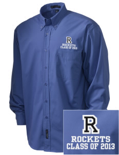 Remsen-Union Community School Rockets  Embroidered Men's Easy Care, Soil Resistant Shirt