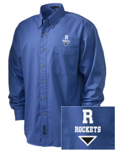 Remsen-Union Community School Rockets Embroidered Men's Twill Shirt