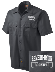 Remsen-Union Community School Rockets Embroidered Dickies Men's Short-Sleeve Workshirt