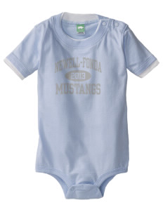Newell-Fonda Middle School Mustangs Baby One-Piece with Shoulder Snaps