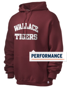 Wallace Elementary School Tigers Russell Men's Dri-Power Hooded Sweatshirt