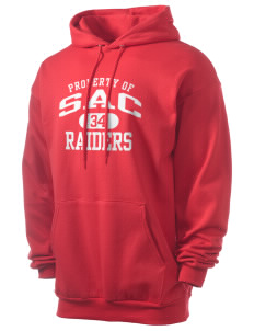 Sac Community High School Indians Men's 7.8 oz Lightweight Hooded Sweatshirt