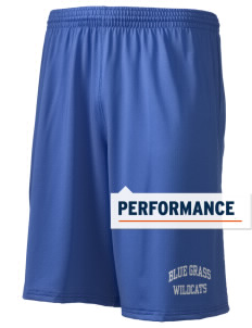 "Blue Grass Elementary School Wildcats Holloway Men's Performance Shorts, 9"" Inseam"