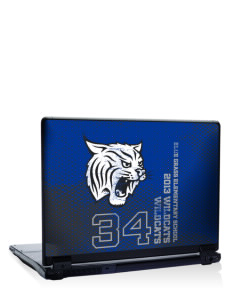 "Blue Grass Elementary School Wildcats 17"" Laptop Skin"