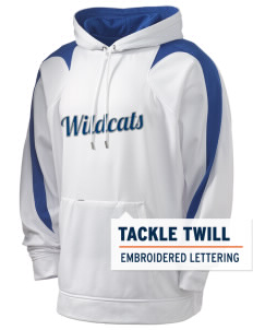 Blue Grass Elementary School Wildcats Holloway Men's Sports Fleece Hooded Sweatshirt with Tackle Twill