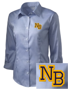 North Butler High School Bearcats Embroidered Women's 3/4 Sleeve Non-Iron