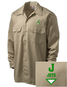 James Elementary School Jets Embroidered Dickies Men's Long-Sleeve Workshirt