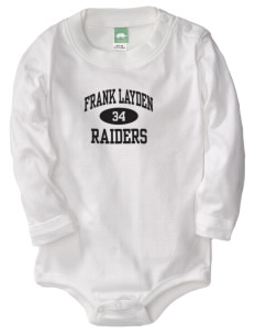 Frank Layden Elementary School Raiders  Baby Long Sleeve 1-Piece with Shoulder Snaps