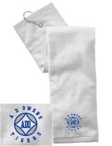A D Owens Elementary School Tigers Embroidered Hand Towel with Grommet