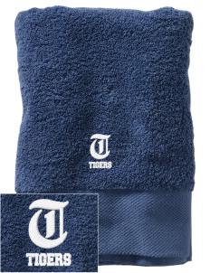 A D Owens Elementary School Tigers Embroidered Zero Twist Resort Towel