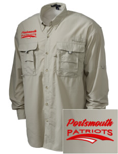 Portsmouth High School Patriots Embroidered Men's Explorer Shirt with Pockets