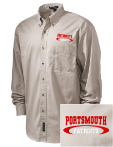 Portsmouth High School Patriots Embroidered Men's Twill Shirt