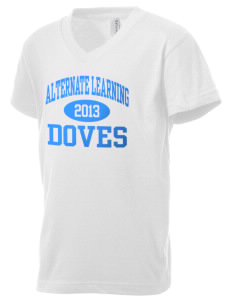 Alternate Learning School Doves Kid's V-Neck Jersey T-Shirt