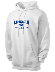 Lincoln High School Lions Men's 7.8 oz Lightweight Hooded Sweatshirt