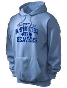 Hampton Street Elementary School Beavers Champion Men's Hooded Sweatshirt