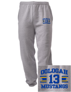 Oologah High School Mustangs Embroidered Men's Sweatpants with Pockets