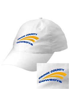 Crook County High School Cowboys Embroidered Vintage Adjustable Cap