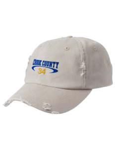 Crook County High School Cowboys Embroidered Distressed Cap