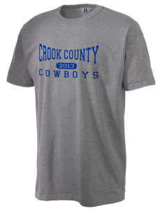 Crook County High School Cowboys  Russell Men's NuBlend T-Shirt