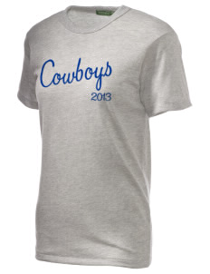 Crook County High School Cowboys Embroidered Alternative Unisex Eco Heather T-Shirt