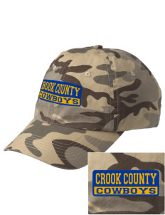 Crook County High School Cowboys Embroidered Camouflage Cotton Cap