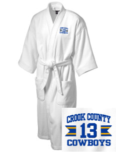 Crook County High School Cowboys Embroidered Terry Velour Robe
