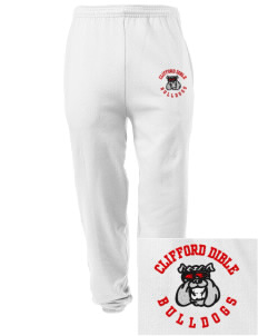 Clifford Dible Elementary School Bulldogs Embroidered Men's Sweatpants with Pockets