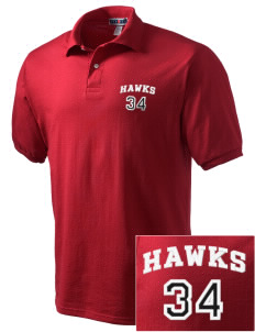 Tilden Elementary School Hawks Embroidered Men's Jersey Polo