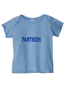 Mowrie A Ebner Elementary School Panthers  Baby Lap Shoulder T-Shirt