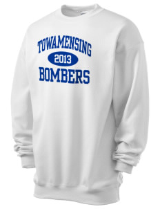 Towamensing Elementary School Bombers Men's 7.8 oz Lightweight Crewneck Sweatshirt