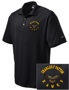 Charles F Patton Middle School Hawks Embroidered Nike Men's Dri-Fit Classic Polo