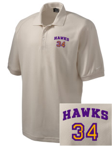 Charles F Patton Middle School Hawks Embroidered Nike Men's Pique Knit Golf Polo